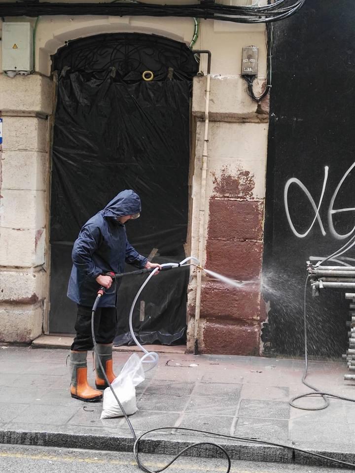 empresas limpieza de fachadas con chorro de arena Limpiezas Dolmar
